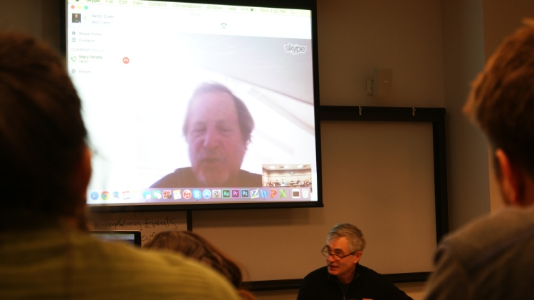 The COMM 324 class skyping with Staecy Peralta, Dogtown and Z-Boys.